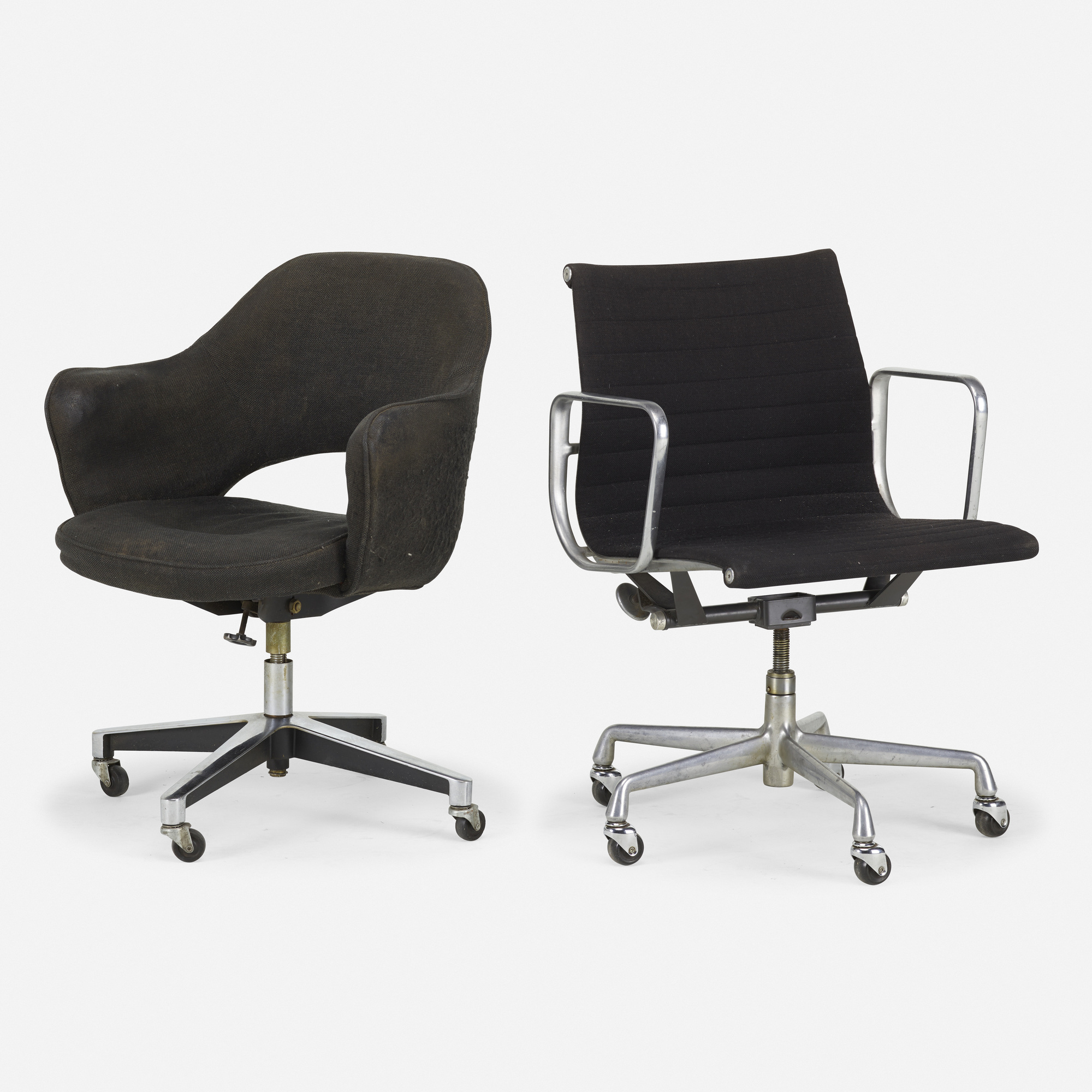 1197 Charles Eames And Eero Saarinen Aluminum Group Office Chair And Executive Arm Chair Unreserved Day 1 20 August 2020 Auctions Rago Auctions